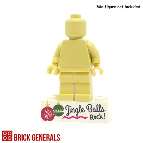 Minifig Printed Brick Base - Jingle Balls
