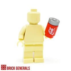 Custom Lego Minifig Accessory Cola Fizzy Drink