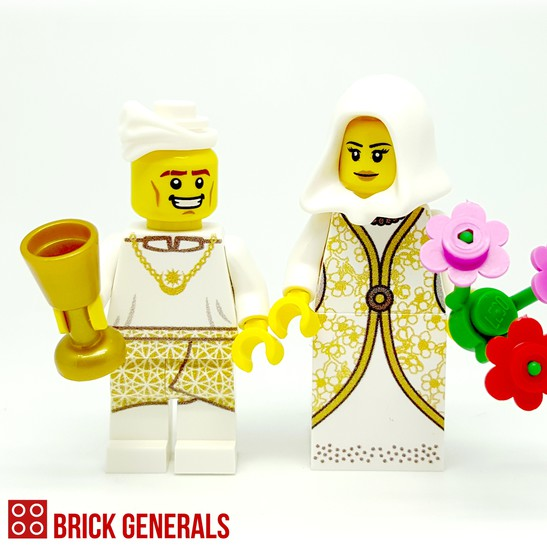 Custom Minifig Malay Wedding Couple