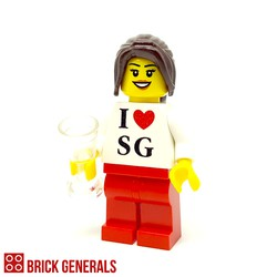 Custom Minifig I Love SG