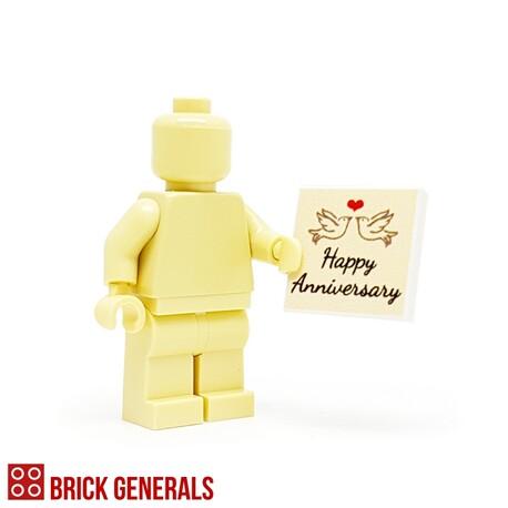 Custom Lego Minifig Accessory Happy Anniversary