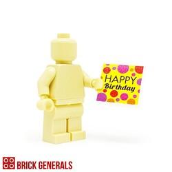 Custom Lego Minifig Accessory Happy Birthday 2