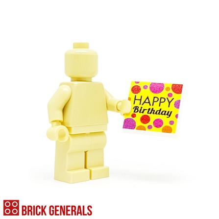 Custom Lego Minifig Accessory Happy Birthday 2