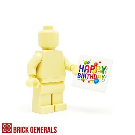 Custom Lego Minifigure Accessory Happy Birthday Sign By