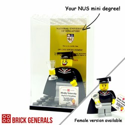 Custom Lego minifig NUS Graduate in Display Box