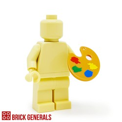 Minifig Accessory Utensil Paint Palette