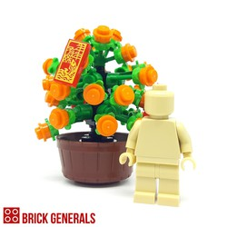 Custom Lego Minifig Accessory Plant of Good Wealth