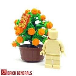 Custom Lego Minifig Accessory Plant of Good Wealth