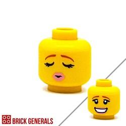 Lego Accessory Minifig Head F16 - Cool-Smiling Face