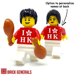 Custom Minifigure I Love HK by Brick Generals