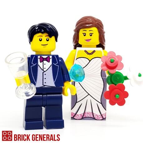 Custom Minifig Fairytale Wedding
