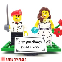 Custom minifigure Army Number One with Bride