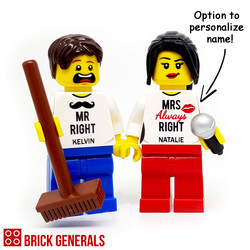 Custom Lego Minifigure Couple Always Right