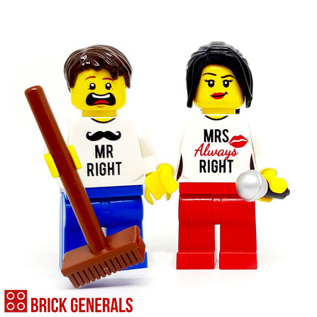 Custom Minifigure Couple Always Right