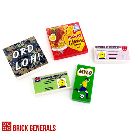 Brick Generals Lego Custom Printed SAF Tile Pack