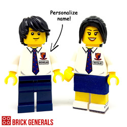 Custom Lego Minifig Anglo High School Student
