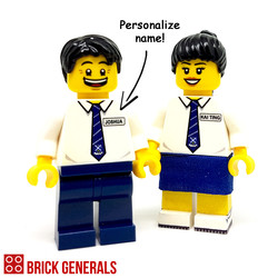 Custom Lego Minifig Saints Junior College Student