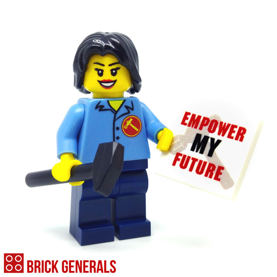 Custom Minifig Workers' Party Empower My Future