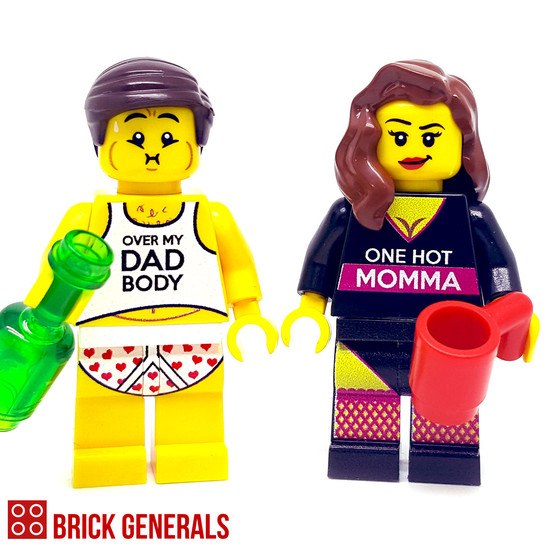 Custom Minifig Couple Viva Forever