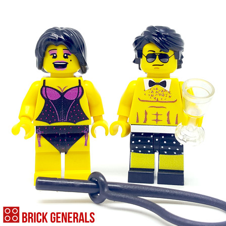 Custom Minifig Couple Hit Me Baby