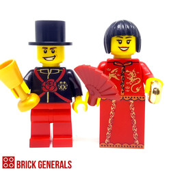 Custom Lego Minifig Chinese Wedding Couple