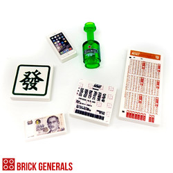 Custom Printed Lego Accessories Lucky Tile Pack