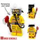 Custom Minifig SCDF Firefighter (Yellow)