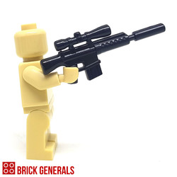 Custom Minfigure Accessory M-16S Assault Rifle with Suppressor