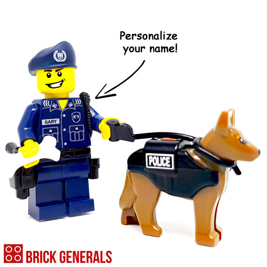 Custom Minifig Police Dog Unit