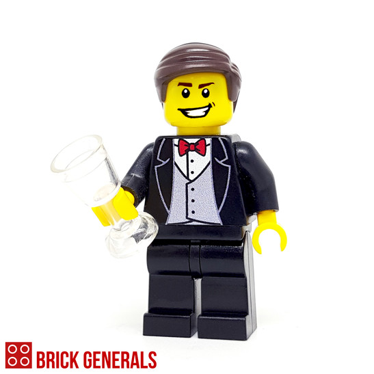 Custom Minifig Groom (Black)
