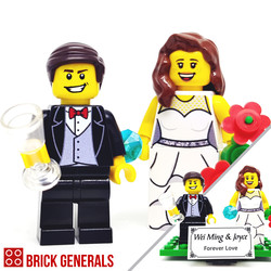 Custom Minifigure Singapore Romantic Wedding