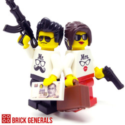 Custom Minifigure Couple Mr & Mrs