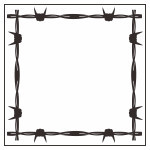 Barbed wire border (3D frame)