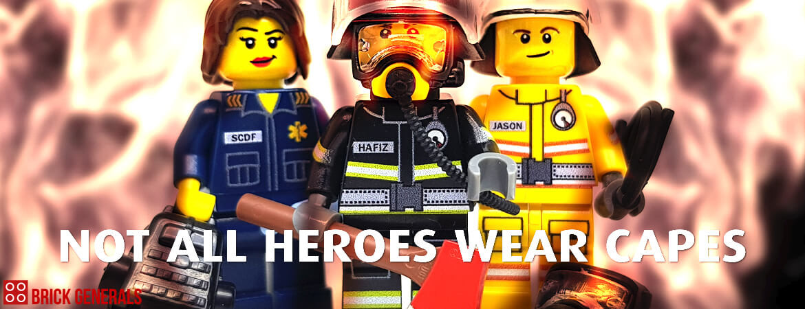 Custom Singapore Civil Defence Force Firemen Minifigures